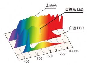 光源ごとの分光分布比較
