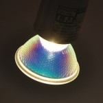 ハロゲンランプのモレ光