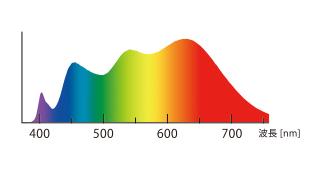 自然光LEDの分光分布
